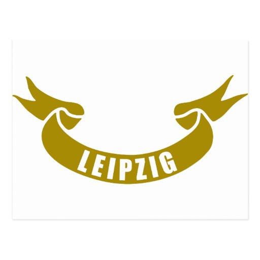 real-tape-Leipzig Postcard