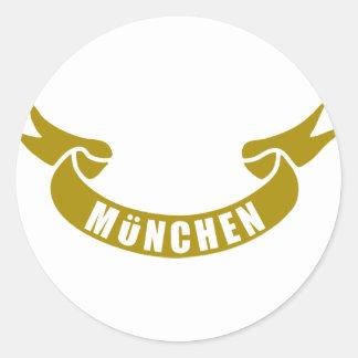 real-tape-München Classic Round Sticker
