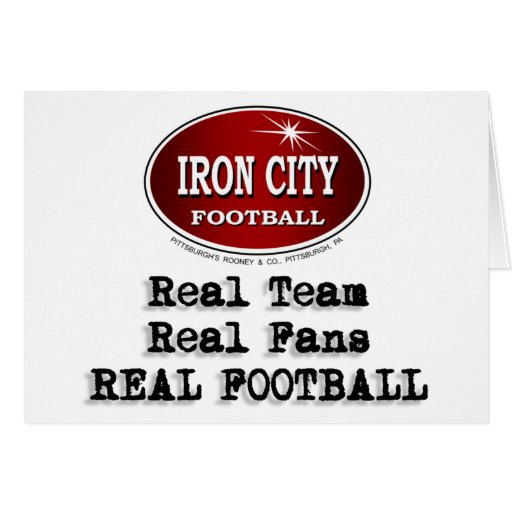 Real Team, Real Fans... Greeting Card