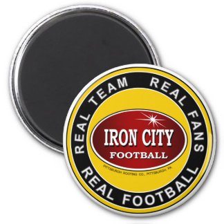 Real Team, Real Fans, Real Football Pittsburgh 2 Inch Round Magnet