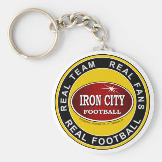 Real Team, Real Fans, Real Football Pittsburgh Basic Round Button Keychain