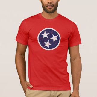 Real Tennessee State Flag Grunge Nashville Love T-Shirt