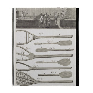 Real tennis and the construction of racquets, from iPad folio cases