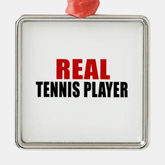 REAL TENNIS PLAYER METAL ORNAMENT