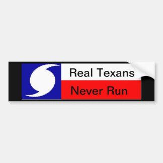 Real Texans Never Run Hurricane Car Bumper Sticker