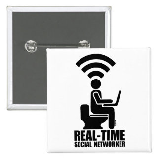Real-time social networker pinback button