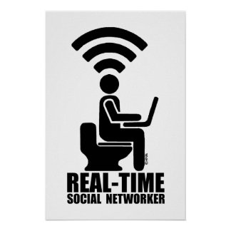 Real-time social networker poster