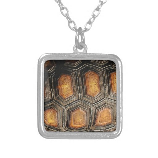 Real tortoise shell square pendant necklace zazzle for Real tortoise shell jewelry
