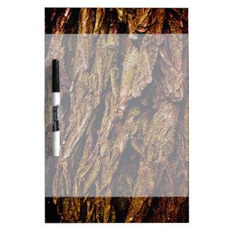 Real Tree Bark Dry Erase Board