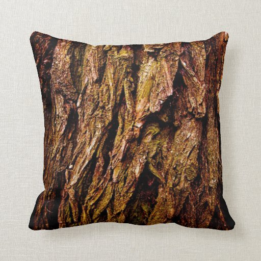Real Tree Bark Pillows
