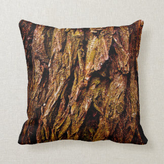 Real Tree Bark Throw Pillow