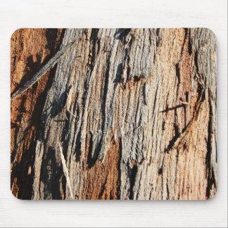 Real Tree Bark Wood Mousepad