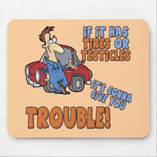 Real Trouble T-shirts and Gifts For Her Mouse Pad