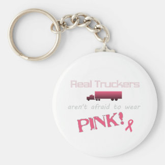 Real Truckers Wear Pink - Breast Cancer Keychain