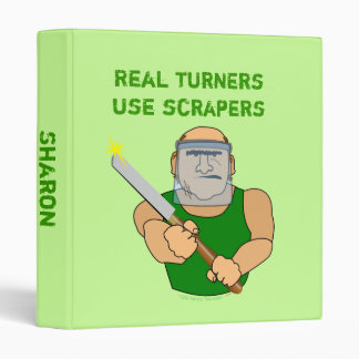 Real Turners UseScrapers Funny Woodturning Cartoon 3 Ring Binder