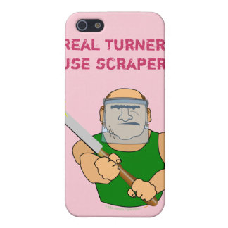 Real Turners UseScrapers Funny Woodturning Cartoon Case For iPhone SE/5/5s