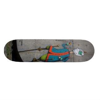 Real Ukrainian Graffiti Wall Abstract Skate Board