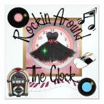 Real un fiesta de Rockin - SRF Invitación 13,3 Cm X 13,3cm