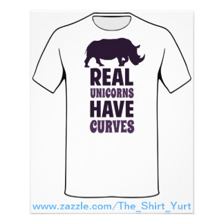 Real Unicorns Have Curves Flyer