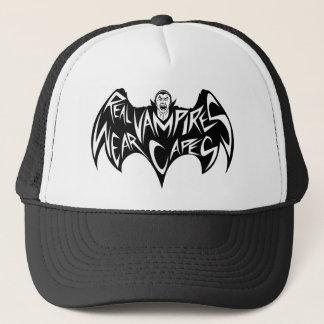 Real Vampires Wear Capes Dracula Trucker Hat
