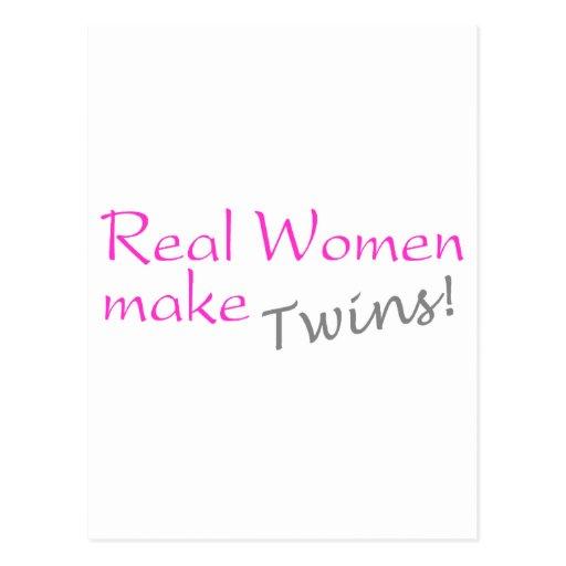 Real Woman Make Twins (Pink) Postcards
