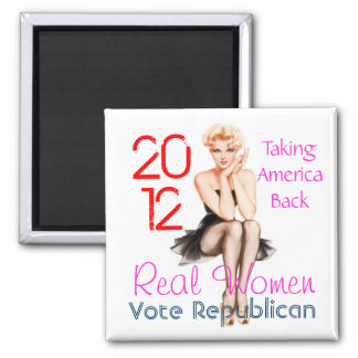 Real Women 2 Inch Square Magnet