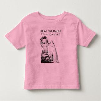 Real Women Choose Ron Paul Baby T-shirt
