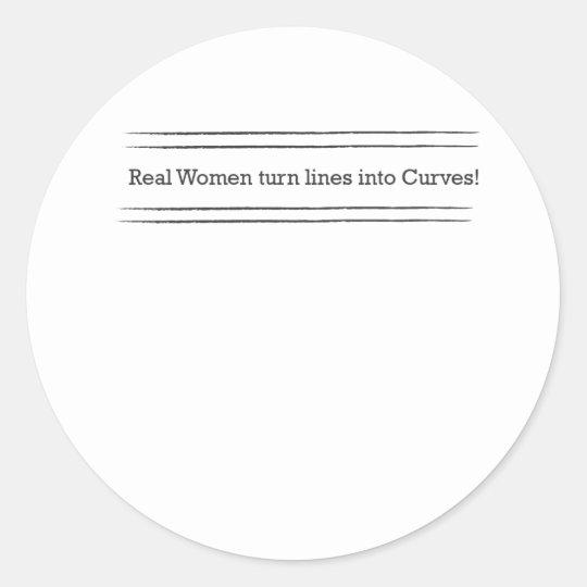 real women classic round sticker