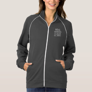 Real Women Clean and Jerk Track Jacket