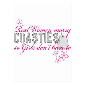 Real Women Coasties Postcard
