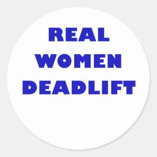 Real Women Deadlift Classic Round Sticker