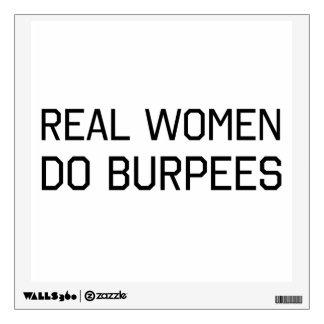 Real Women Do Burpees Wall Sticker