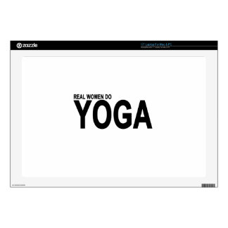 """REAL WOMEN DO YOGA.png Skins For 17"""" Laptops"""