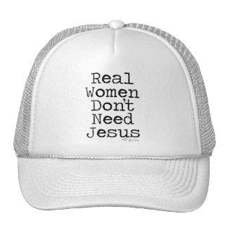 Real Women Don't Need Jesus Trucker Hat