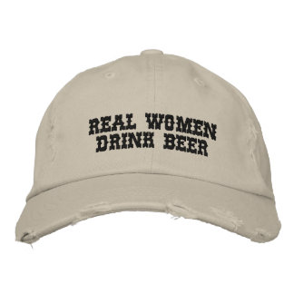 REAL WOMEN DRINK BEER EMBROIDERED BASEBALL CAPS