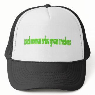 Real Women Drive Green Tractors Trucker Hat