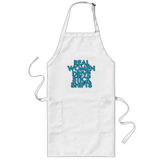 Real women drive stick shifts long apron