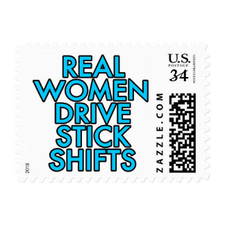 Real women drive stick shifts postage