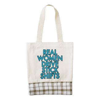 Real women drive stick shifts zazzle HEART tote bag