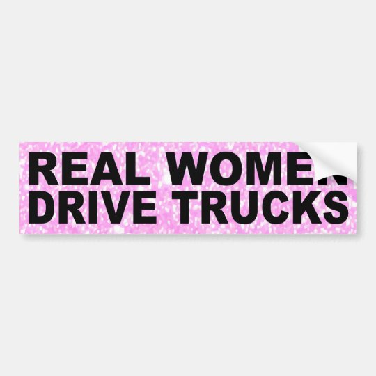 Sticker - Bumper - Real Women Drive Trucks - фото 3