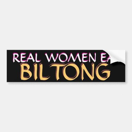 REAL WOMEN EAT BILONG BUMPER STICKER