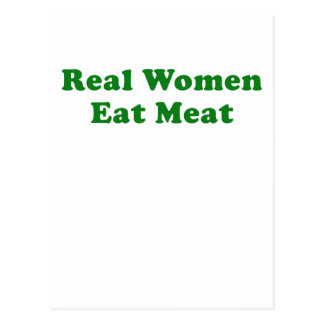 Real Women Eat Meat Postcard