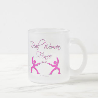 Real Women Fence Frosted Glass Coffee Mug