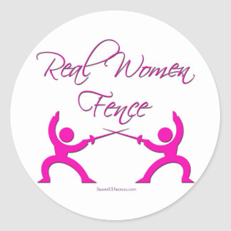 Real Women Fence Round Stickers