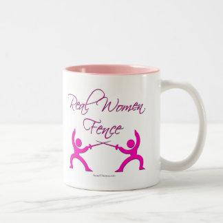 Real Women Fence Two-Tone Coffee Mug