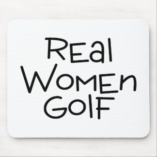Real Women Golf Mouse Pad