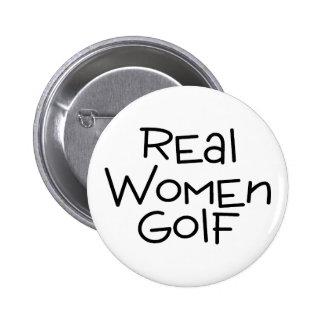 Real Women Golf Pinback Button