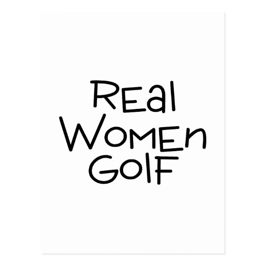 Real Women Golf Postcard
