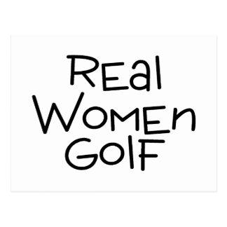 Real Women Golf Postcard