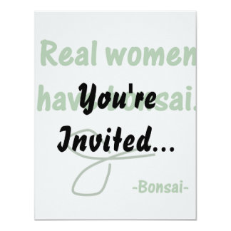 Real Women Have Bonsai , design with shears Card